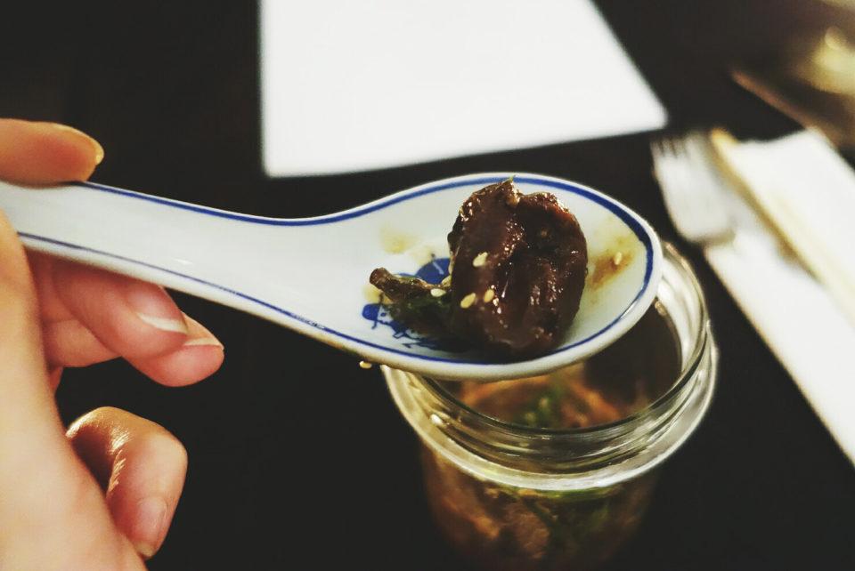 gęsie serca w japońskim sosie tare