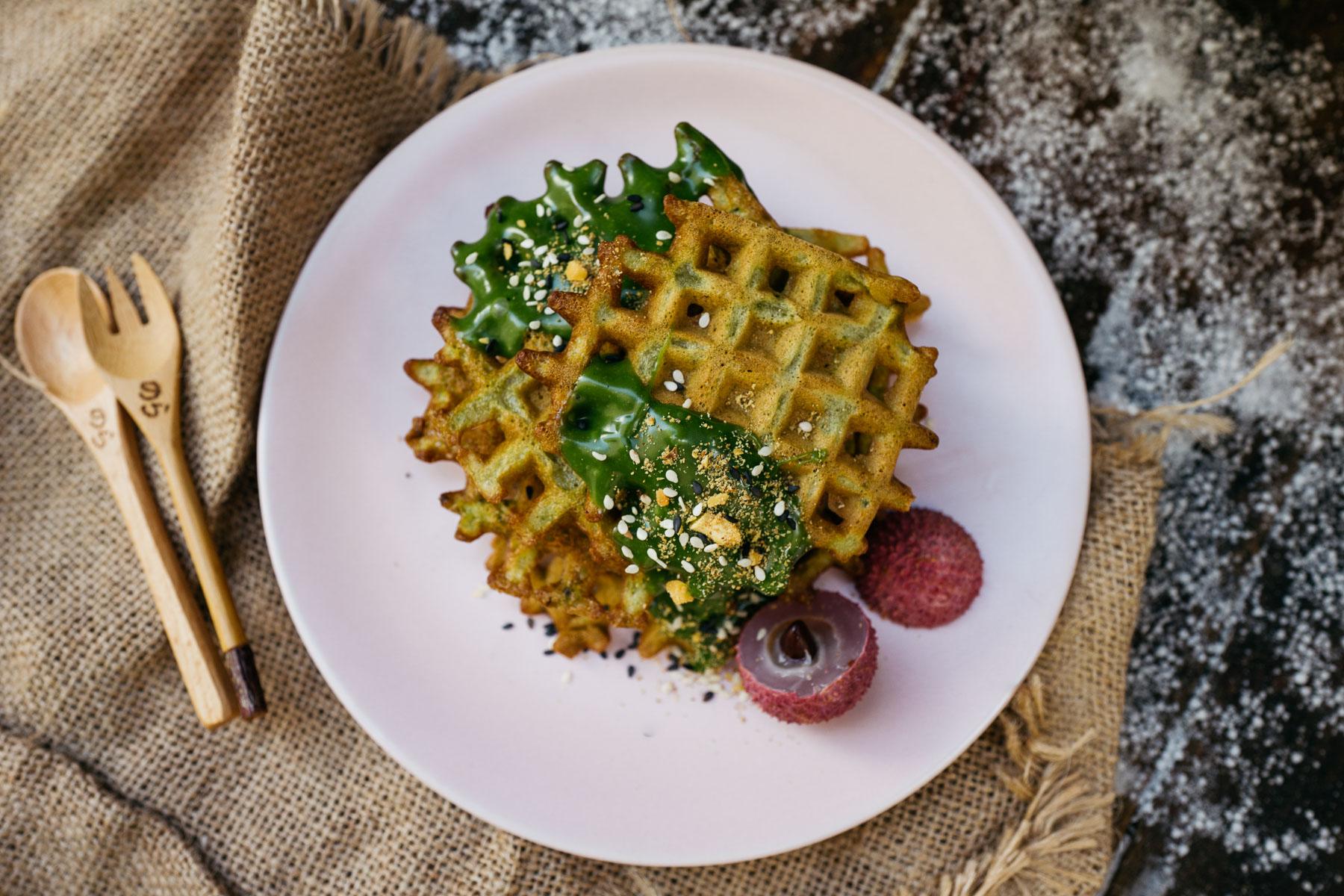 pandanowe gofry (bánh kẹp lá dứa)