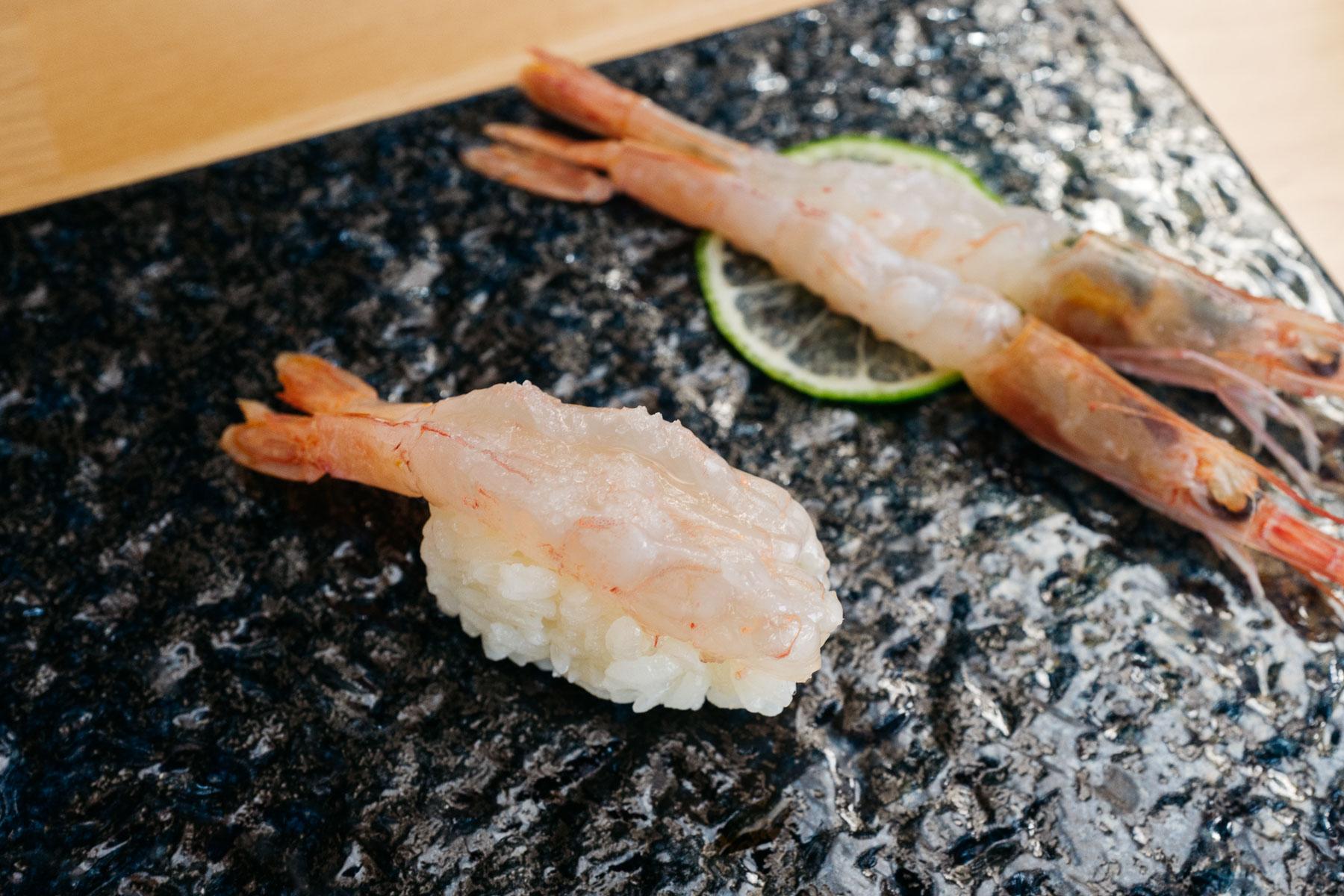 amaebi (krewetka różowa głębinowa)