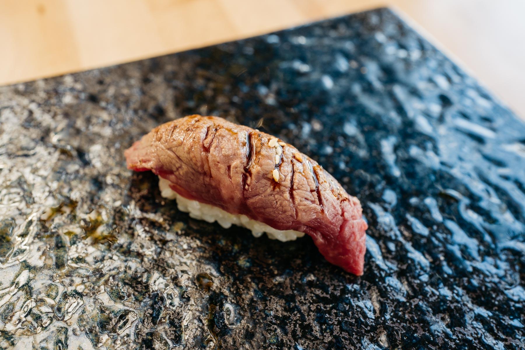 wagyu z teriyaki sauce
