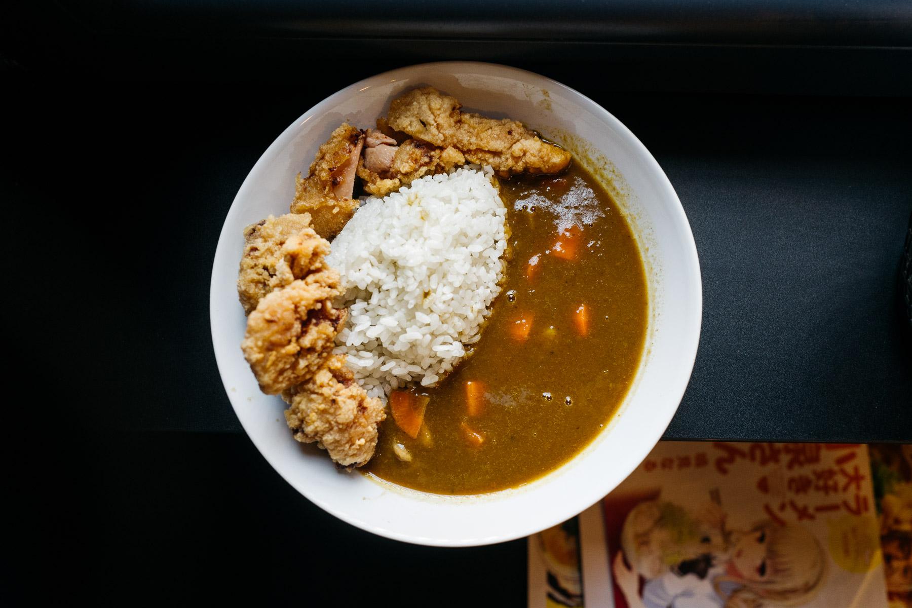 japońskie curry + smażony kurczak karaage