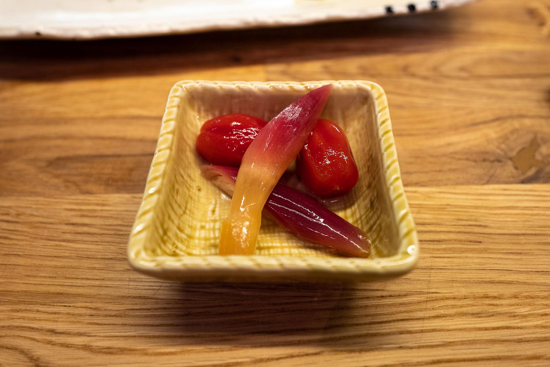 piklowane pomidorki i myoga