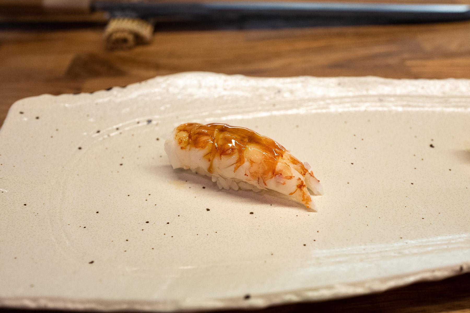 aka ebi (słodka krewetka) z nitsume