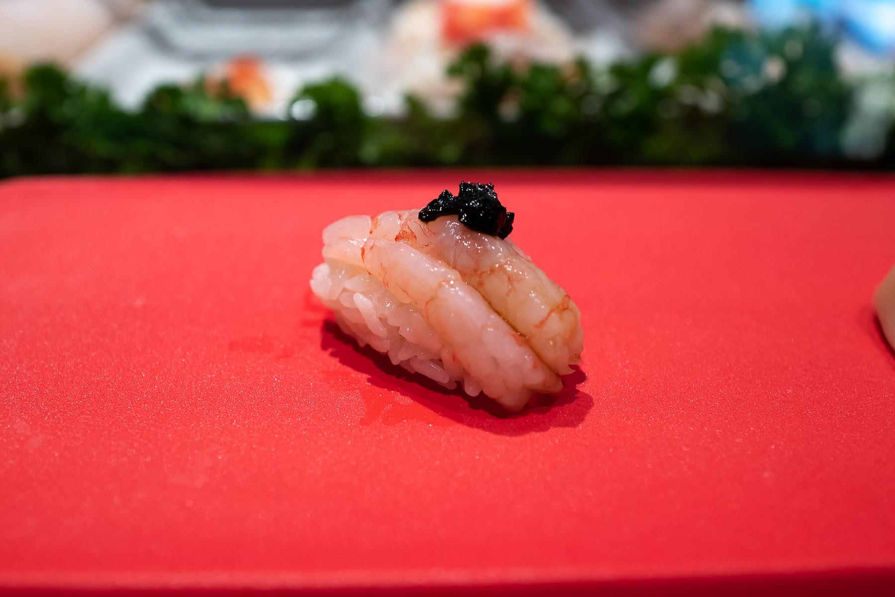 nigiri - ama ebi (słodka krewetka)