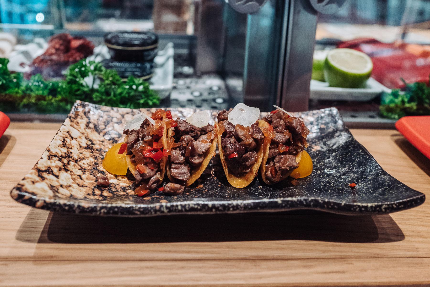tacos z wołowiną wagyū