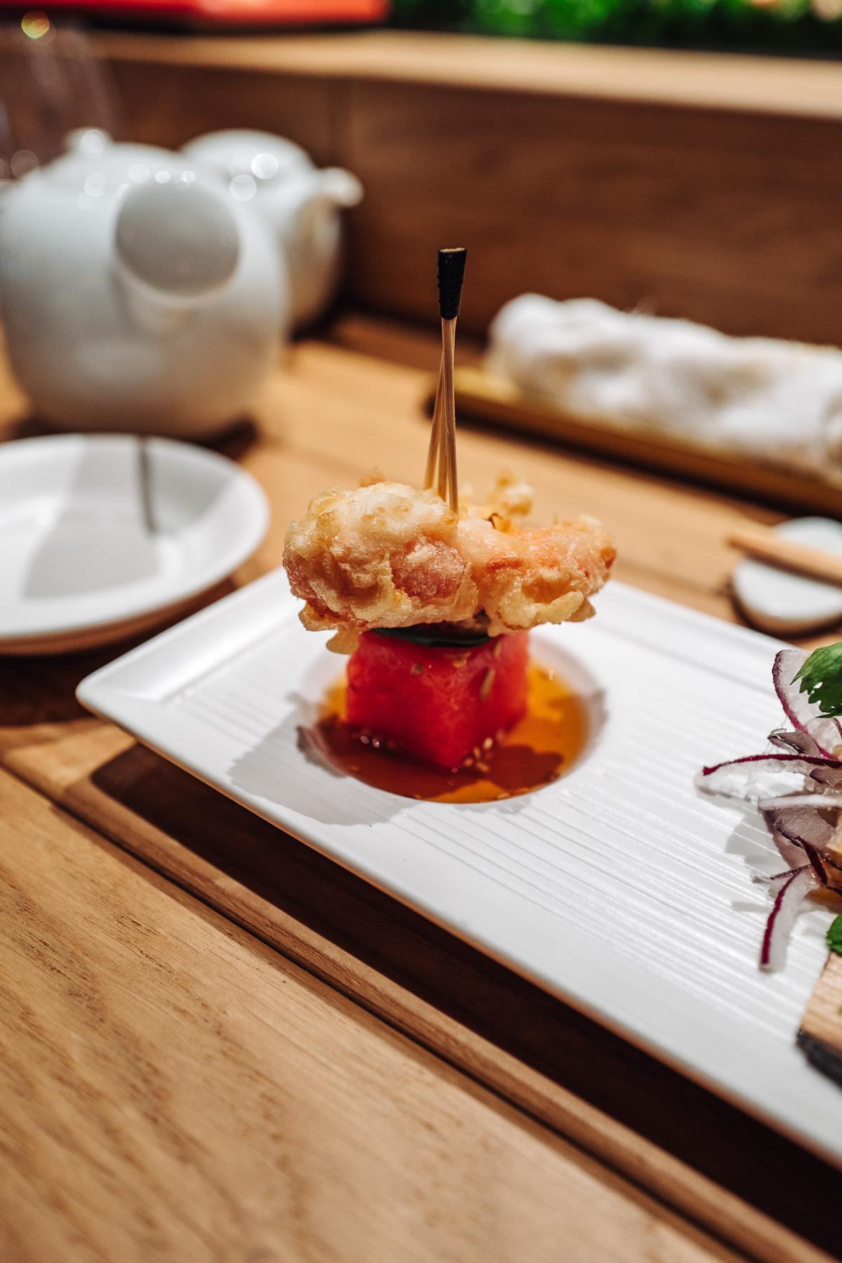 tempura krabowa z arbuzem