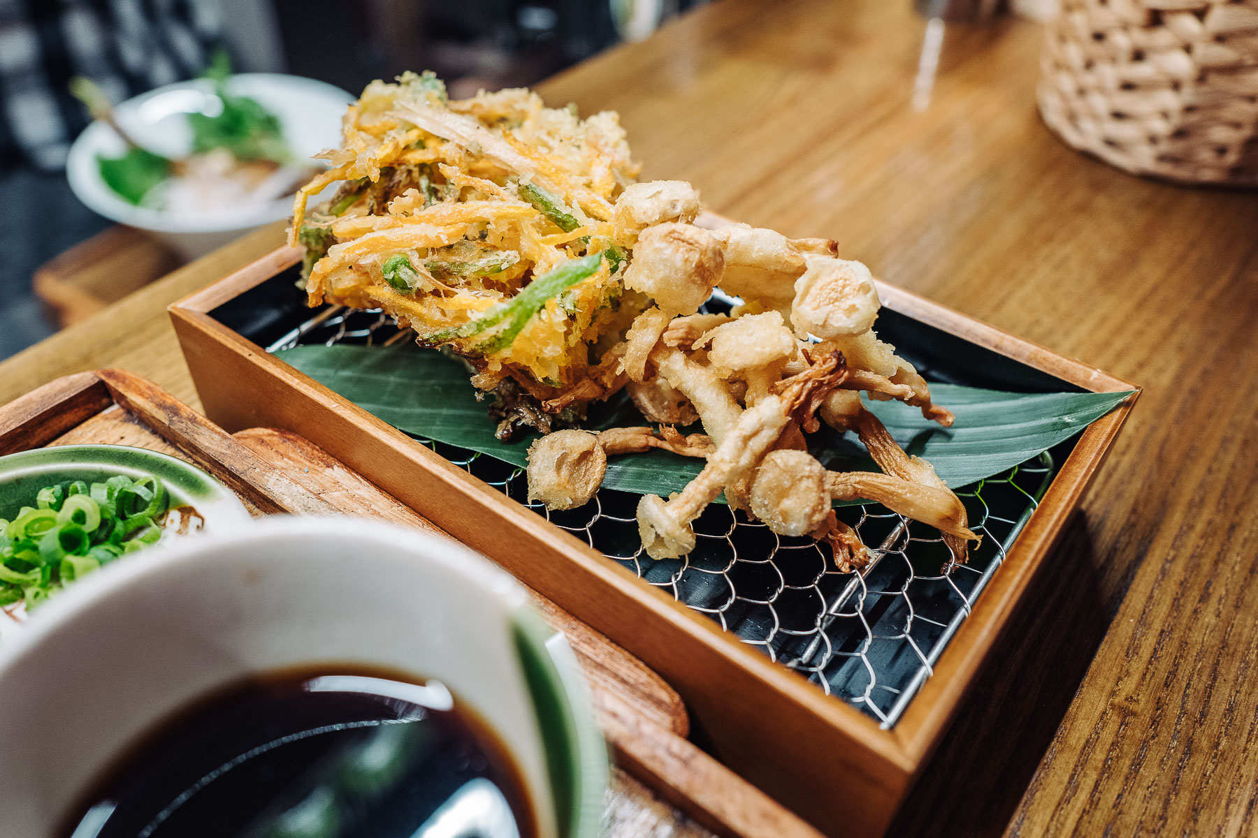 tempura (kakiage i shimeji)
