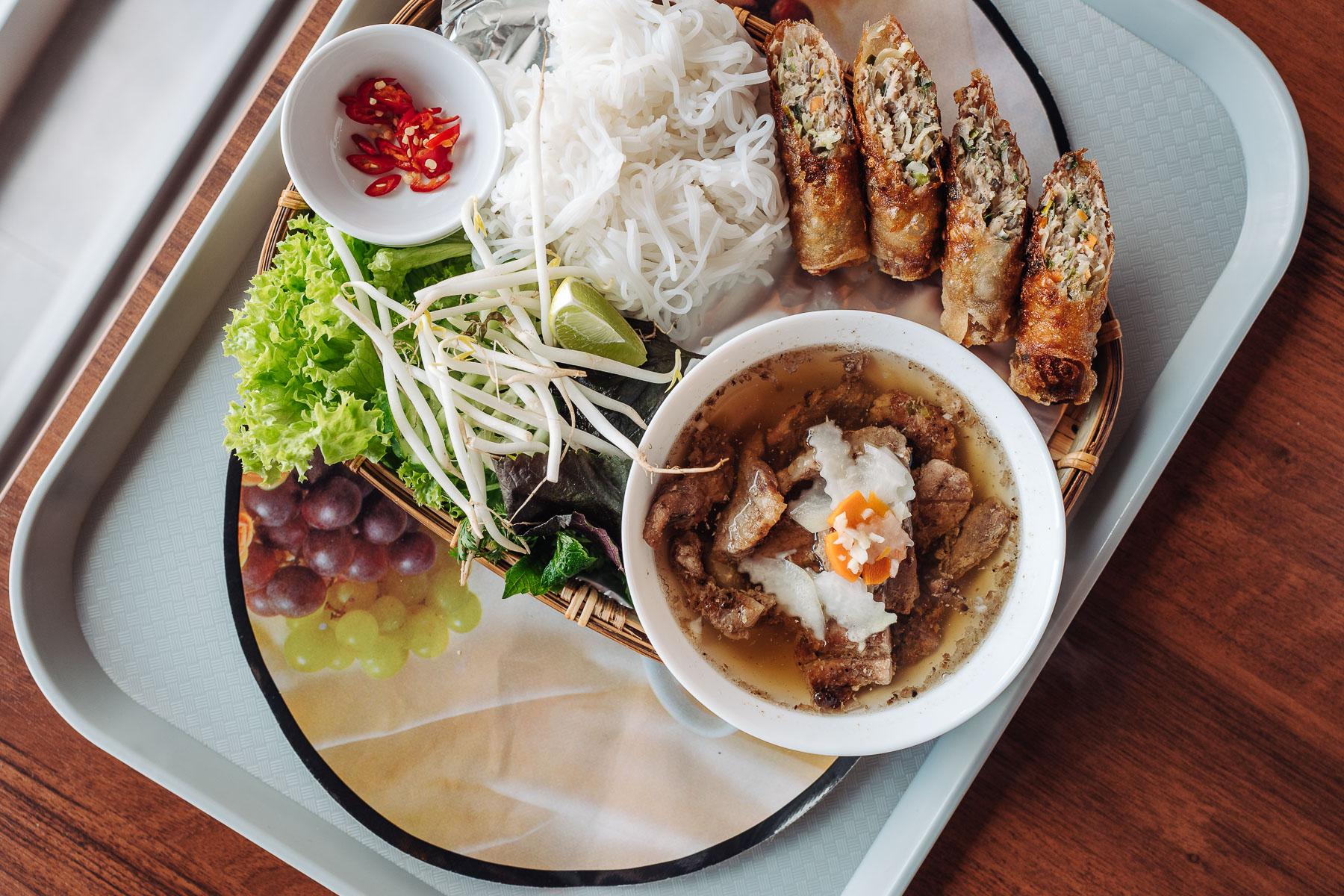 bún chả w Anami Sushi & Vietnamese Cuisine